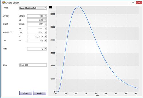 Detector Emulator control center software main screen